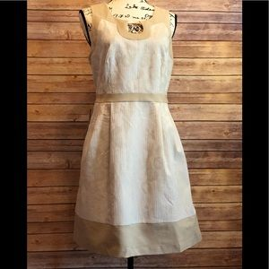 The Limited Cream/Tan Sleeveless Dress